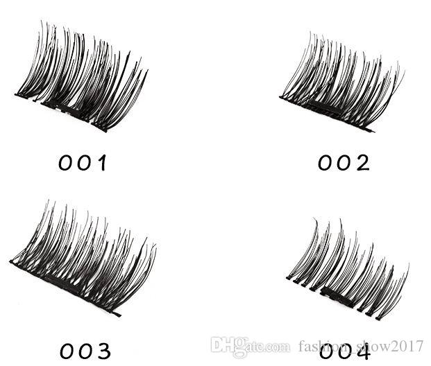 High Quality Professional 3D Magnetic Eyelashes Natural Beauty No Glue Reusable Fake False Eye Lashes Extension Handmade