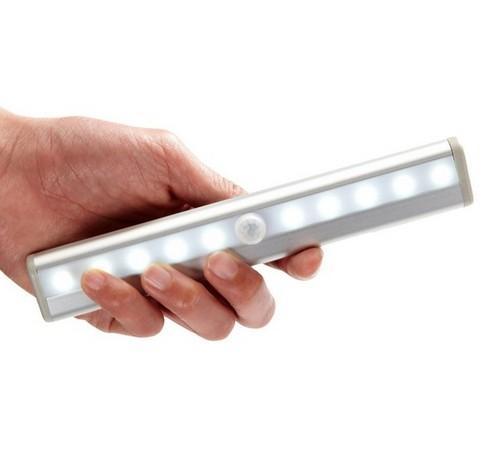 10 ночника LED батареи прямоугольник инфракрасной сенсора фара изменение движения стена освещение потолок с монтажным магнитом