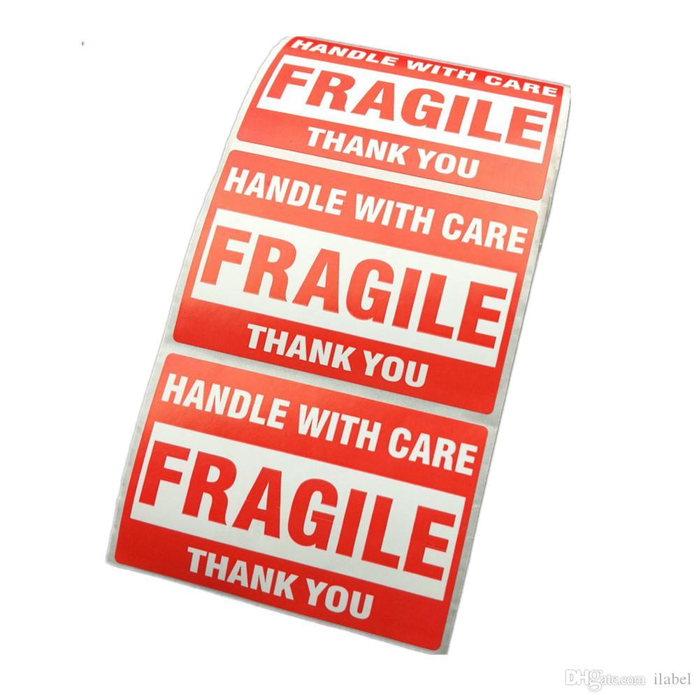 embalagem aviso stikcer pega frágil com cuidado com obrigado etiqueta de envio adesivo 1 rolo 2x3 polegadas 51 x 76mm