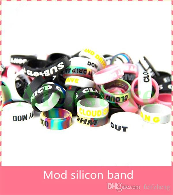 Silikonband vape schönheit ring für mechanische mods rba rda zerstäuber dekorative schutz rutschfeste mech mod Ragnarok Praxis mutation x v3 DHL