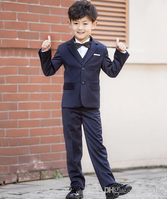 de74194ecd18d handsome little boys suits Children's wear two buttons formal paty Suit the boy  suit (jacket+pants+vest) Custom made
