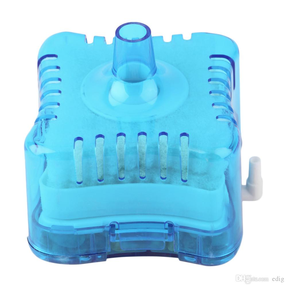 MINI Air Powered New Aquarium Fish Tank Super Pneumatique Biochimique Filtre À Charbon Actif Filtre biologique de l'eau 10-60cm Tranquillement