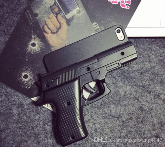 Casos de telefone fresco para iphone x xr xs max 8 7 6 6 s além de 5 S hard PC Defender Caso Gun Design caso protetor GSZ167
