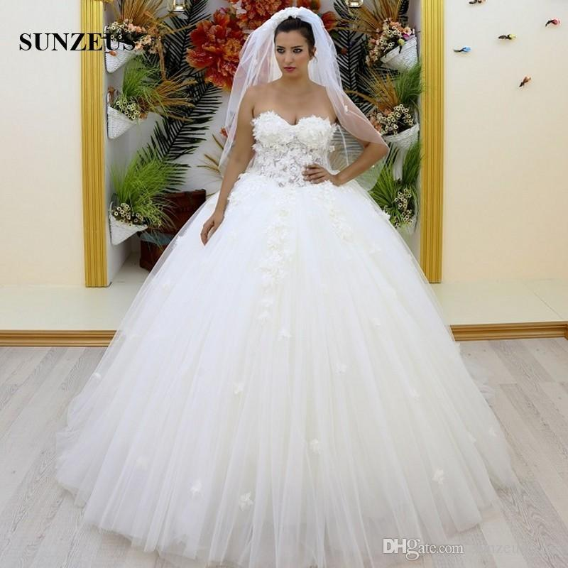 Gelinlik Elbise 2017 Sweetheart Ball Gown Wedding Dresses For Bride ...