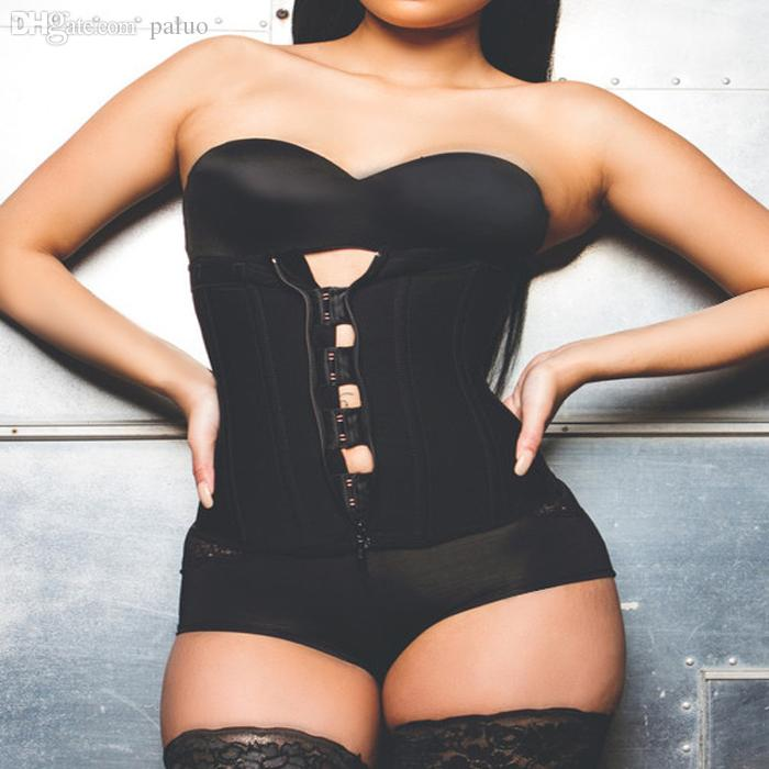 e5d9f918900fc7 Wholesale-Zipper And Hooks Combo Rubber Latex Waist Trainer Sexy ...