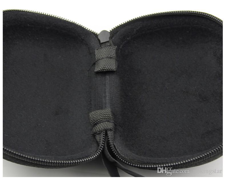 New Black Folding Reading Glasses Hard Sunglasses Case Portable Lanyard Zipper Glasses Boxes Storage Box