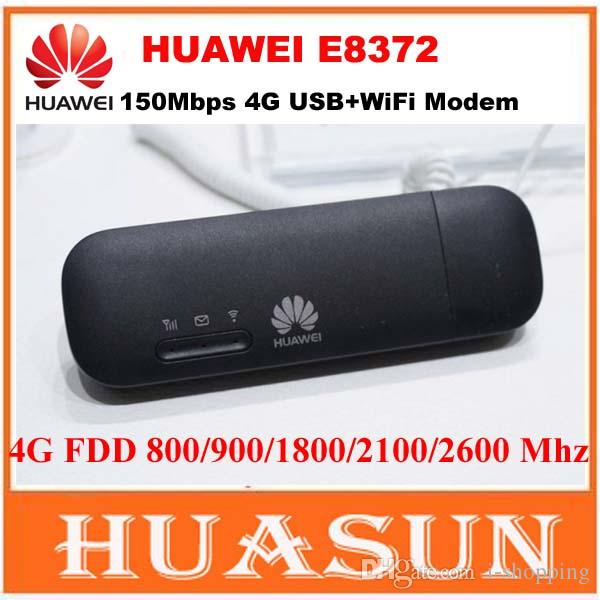 Livraison gratuite Huawei E8372 150 Mbps 4G LTE Wifi Modem CAT4 clé USB PK  huawei E8278 W800Z