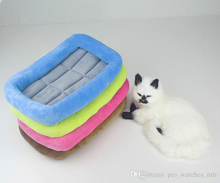 50 Stücke High Grade Kristall Samt Pet Matte Wasserdicht rutschfeste Hund Kiste Matte Kennel Cage Pad Bett Haustier Kissen 4 Farben F831