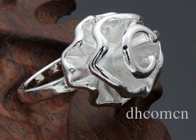 925 Silber Rose Frauen Ring Chirstmas Band Ringe Versilbert Eastern Party Geschenk Blume Ringe Schmuck