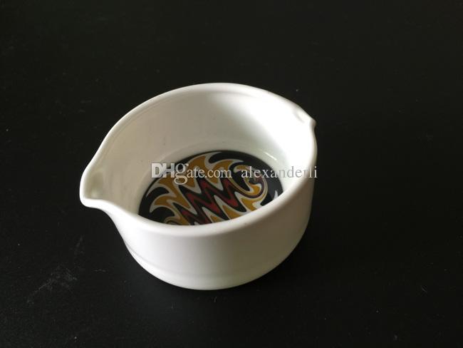 세라믹 접시와 유리 바늘 팁 집중 예술 세라믹 왁스 접시 오일 용기 Dabber 도구 세트 유리 오일 조작 장치 세트 흡연 액세서리