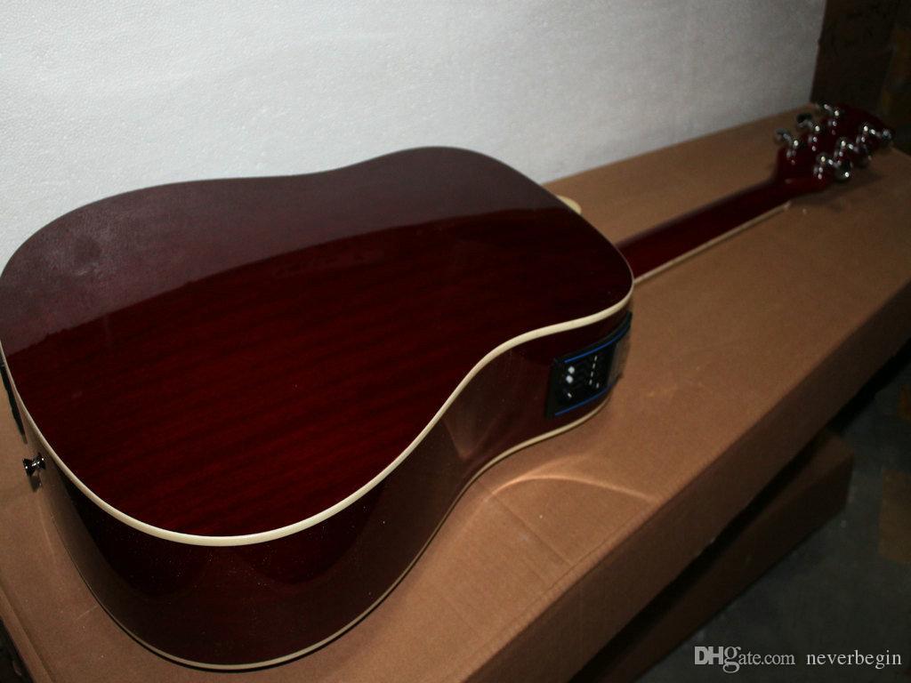 Très belle nouvelle guitare électrique vin rouge Guitare acoustique avec livraison gratuite