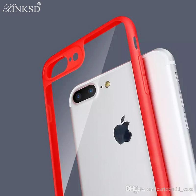 For iPhone X iPhone8 PlusPhone Case Back Cover Case TPU Clear Shockproof Case Phone Protector for Iphone 8