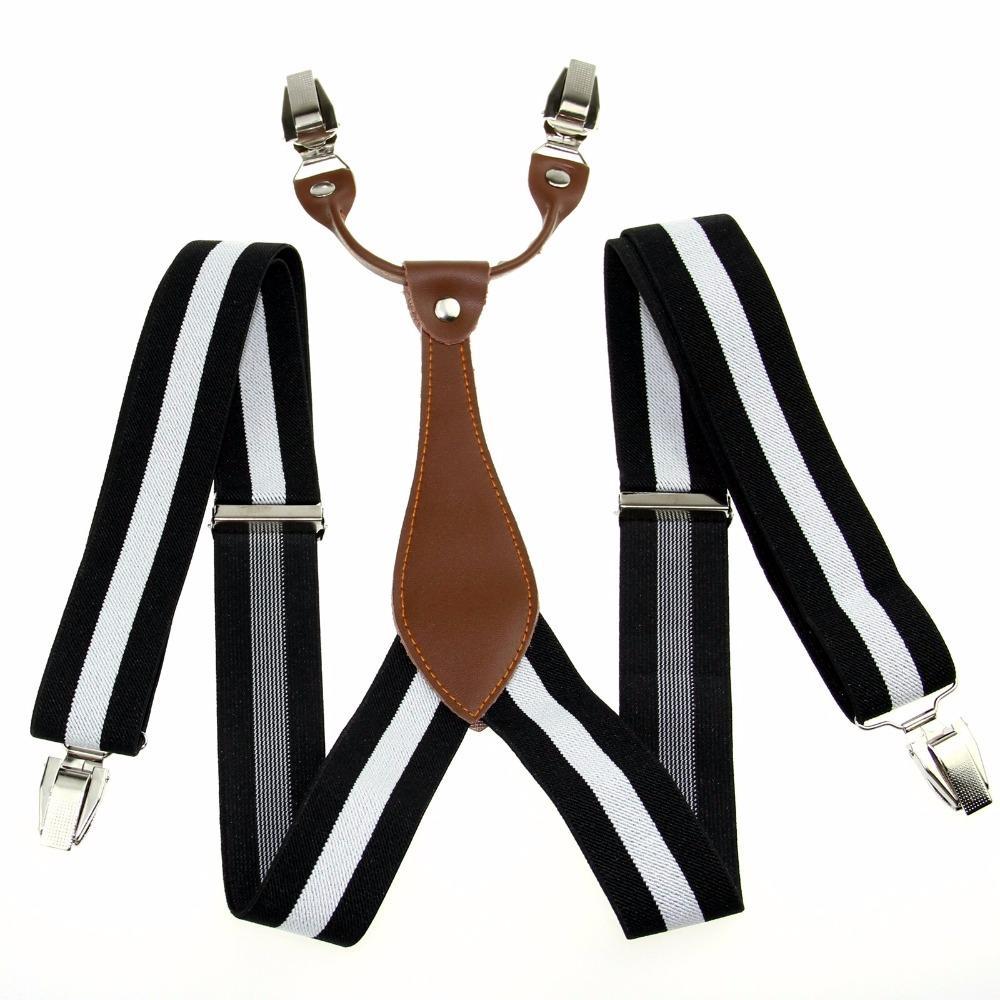 b8b638bf9 Wholesale Black White Stripe Mens Elastic Adjustable Clip On Unisex  Suspender Braces BD626 Knickers Lingeri From Value333