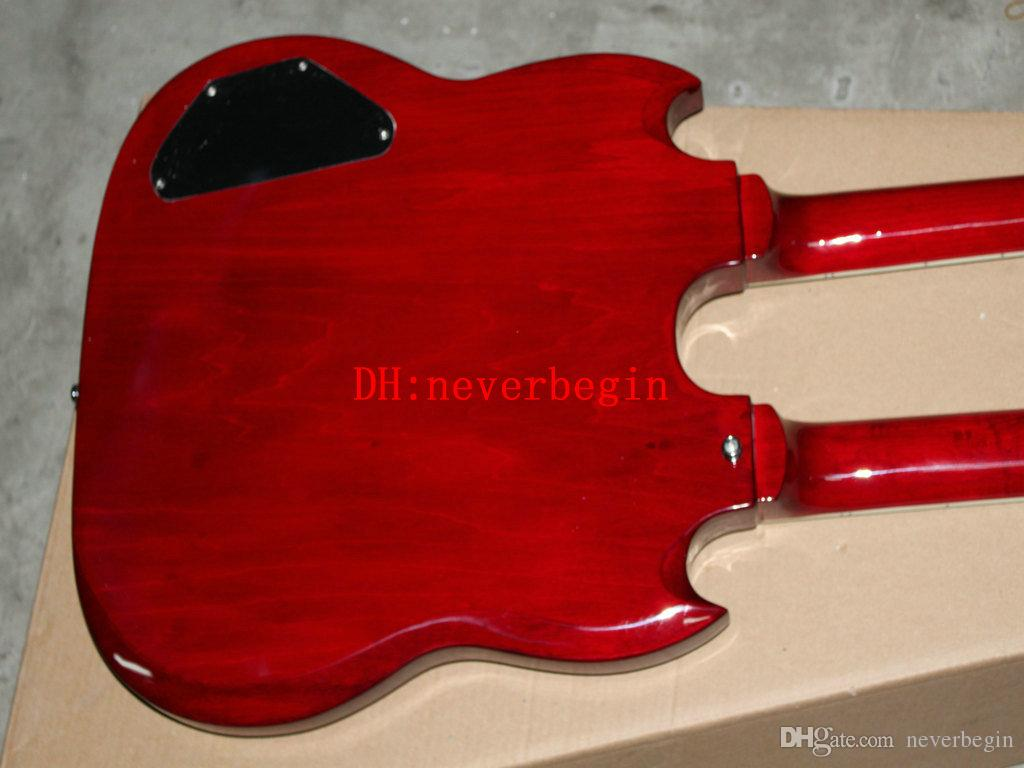 Double Neck Electric Guitar 1275 Custom Shop Electric Guitar Red Best Musical instruments