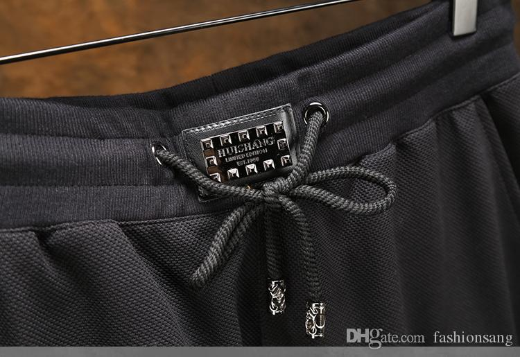 New arrived hip hop pants for men sport joggers trousers mens Leather clothes men's full nine skull clothing plus size M-6XL