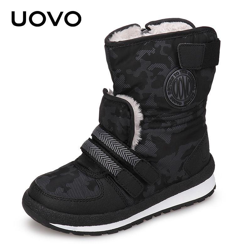 0af6b6d22 Compre UOVO 2018 New Kids Fashion Boots Cierre Lateral Con Cremallera Niños  Zapatos Warm Y Cómodo Niños Niñas Botas Para Tamaño Eur 30   38   A  53.88  Del ...