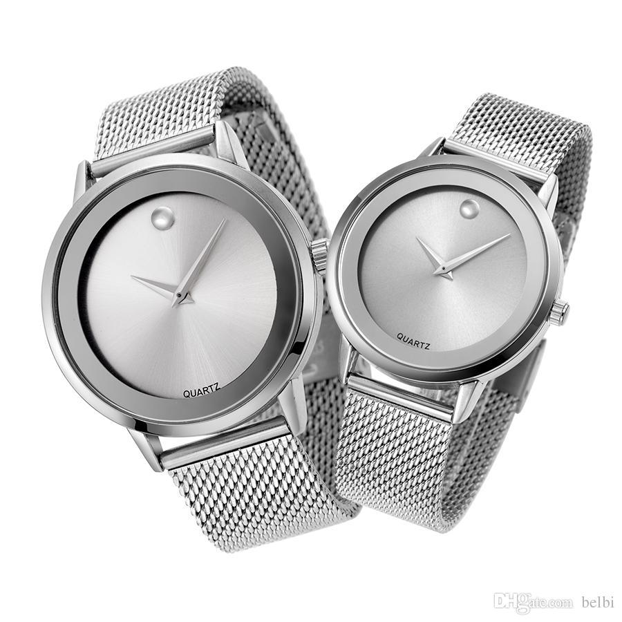 Compre 2017 Aaa Amantes Calientes Relojes Marca Japón Movimiento De Cuarzo  Batería Calidad Aleación Caja De Acero Inoxidable Pulsera De Lujo Belbi  Relojes A ... 1f55fb88aef3