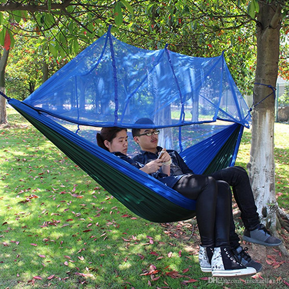 Outdoor Camping Hammock With Mosquito Net High Strength Portable Parachute  Fabric Hanging Sleep Bag Eno Hiking Equipment Tent Kit Sale Cheap Wooden  Patio ...