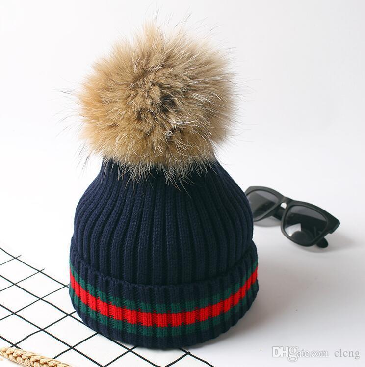 2018 Europe et Amérique bonnet tricoté bonnet bonnet d'hiver chapeaux femme Bouleversé pour garder au chaud bulbe pileux capuchon de protection auditive ADULT BEANIE NMZ69