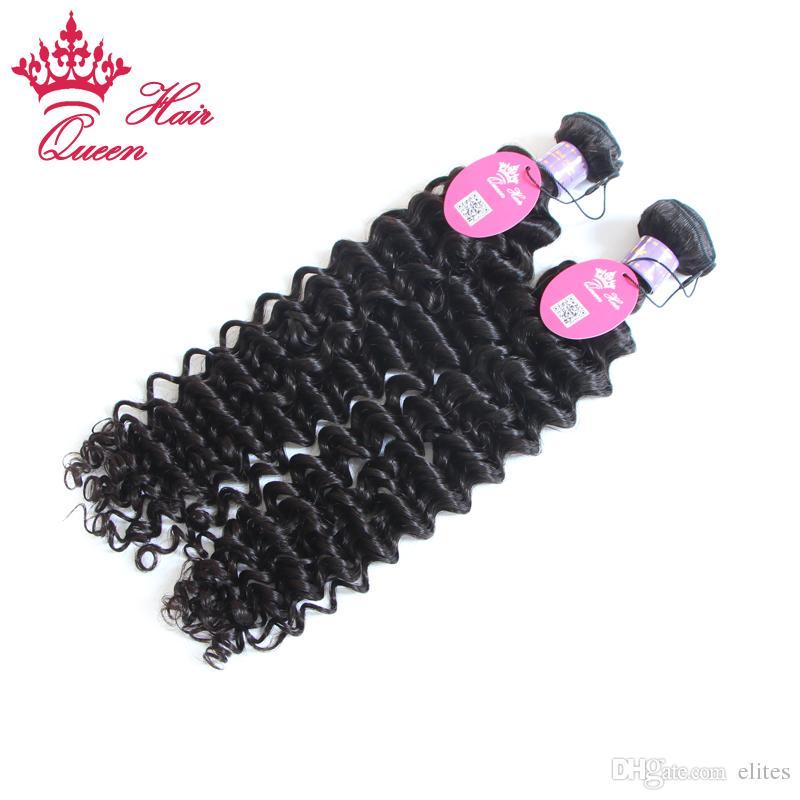 Reine Cheveux Virgin Malaysian Deep Wave Extensions de cheveux vierges malaisiens Curly Virgin Hair beaucoup 8