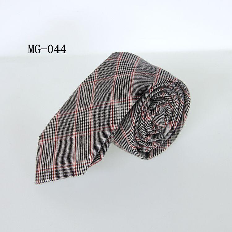 男性の格子縞のネクタイコットンネックネックネクタイのための6cmのビジネスネクタイ/ロット