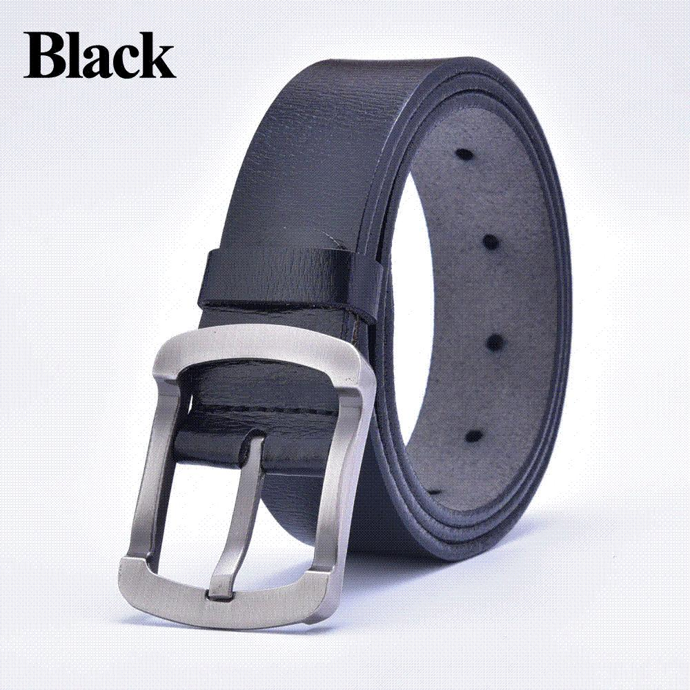b429057ac7ba8 2015 New Fashion Luxury Vintage Designer Genuine Leather Mens Belt High  Quality Black Pin Buckle Cowskin Belts Cinto Free Corset Belt Concho Belt  From ...
