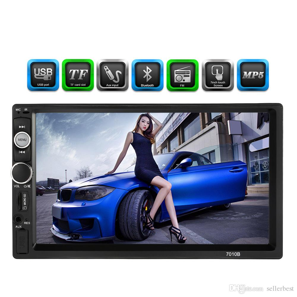 7 인치 유니버설 2 Din HD 블루투스 자동차 자동 MP3 MP4 플레이어 멀티미디어 라디오 엔터테인먼트 USB / TF FM AUX 입력 자동차 DVD