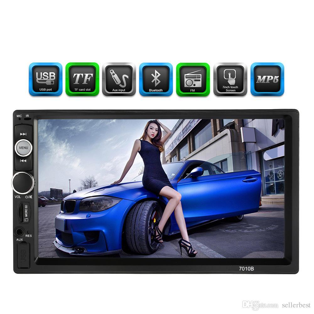 Auto da 7 pollici Universal 2 DIN HD Bluetooth autoradio MP5 Player Multimedia Radio Entertainment USB / TF FM ingresso auto DVD