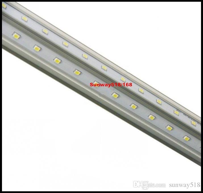 T8 V-образные светодиодные пробирки-охладитель света 4FT 5FT 6FT 8 FT Однопроизводительный PIN-код FA8 Светодиодные легкие трубки 270 Угол двойных сторон AC 85-265V