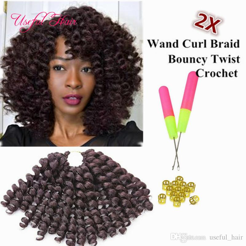 High Quality 8inch Wand Curl Bouncy Twist Crochet Hair Extensions