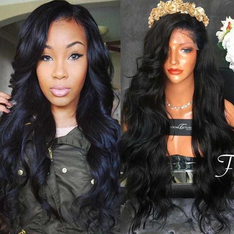 Top Grade Best 150% Density Full density Virgin Malaysian Thick Human Hair Wig Gluess Silk Top Full Lace Wig Cheap Human Hair Lace Front Wig