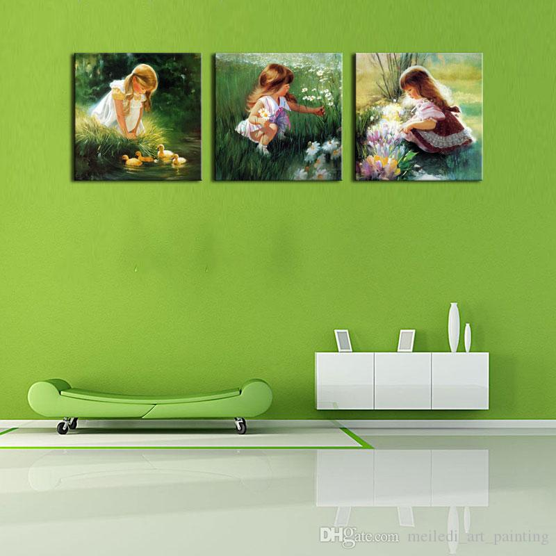 Discount Wall Art Beautiful The Little Girl On The Field On Lawn ...
