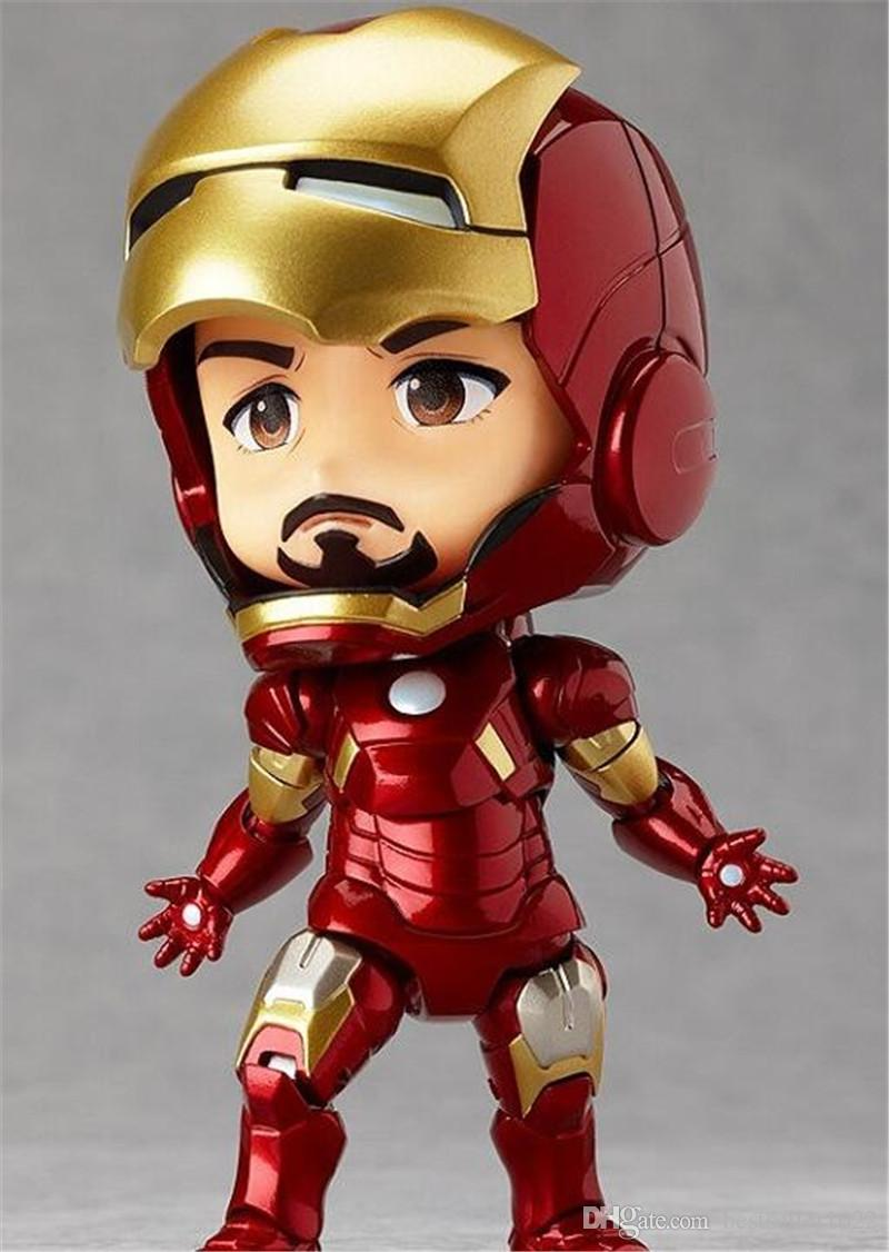 Marvel Avengers Cute Iron Man Fascinating Superhero Action Figures PVC Doll Anime Toys American Cartoon Spinder Man Doll Toys