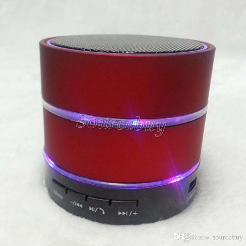Kablosuz Hoparlörler S09 Mini Bluetooth Taşınabilir Stereo Subwoofer Hi-Fi Ile LED Işıkları Mikro TF Kart Mic USB Disk Kulaklık Yuvası çağrı al ...