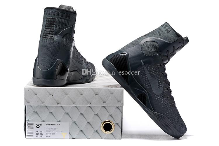 sneakers for cheap be177 a00de 2019 Grey Kobe 9 Elite FTB ZK 9 High Cut Men Fashion Sports Running Walking  Boots Mens Outdoor Athletic Sneakers Size 40 46 From Esoccer,  63.96    DHgate.