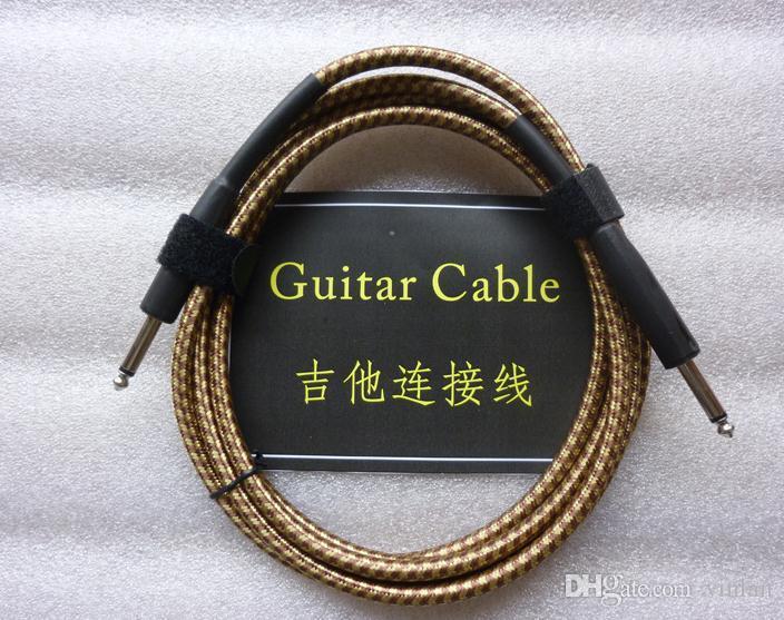 Yüksek kaliteli müzik aletleri parçaları 3 m Ses Kablosu Gitar Amplifikatör Kablo Gitar Pedalı Kablo gitar aksesuarları
