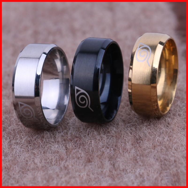 Titanium Naruto Uzumaki Finger Rings Tail Rings Thumb Ring Women