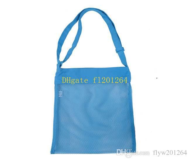 20 adet / grup Ücretsiz Kargo Toptan 29x35 cm Büyük Boy Boşlukları Çocuk Örgü Kabuk Plaj seashell Çanta saklama torbaları