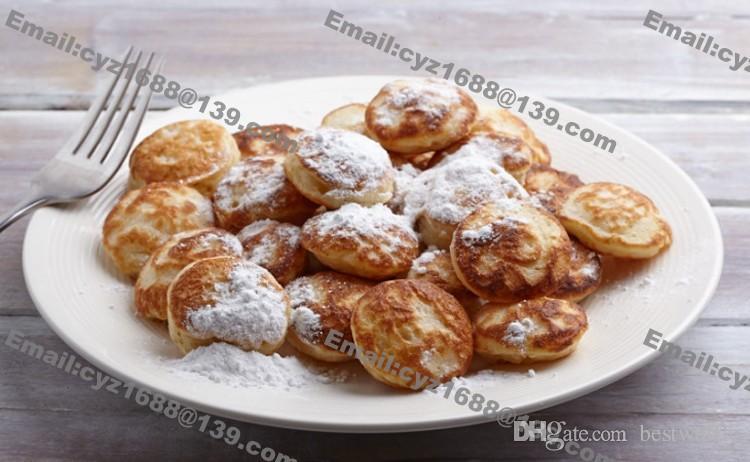 Envío gratuito el uso comercial antiadherente 110v 220v eléctrica holandesa mini crepes Poffertjes Máquina de Baker fabricante de moldes de hierro Pan