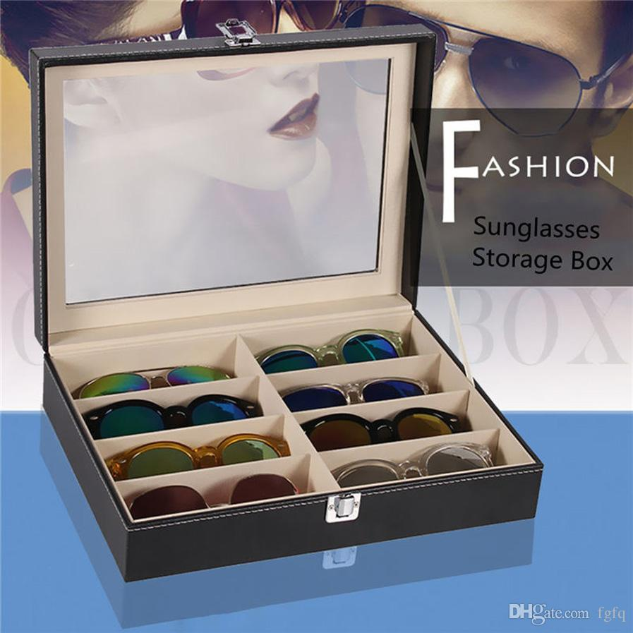2018 8 Grid Glasses Storage Box, Sunglasses Display Box Sunglass Organizer  Box, Eyewear Storage Case Organizer Black Color From Fgfq, $24.76 |  Dhgate.Com