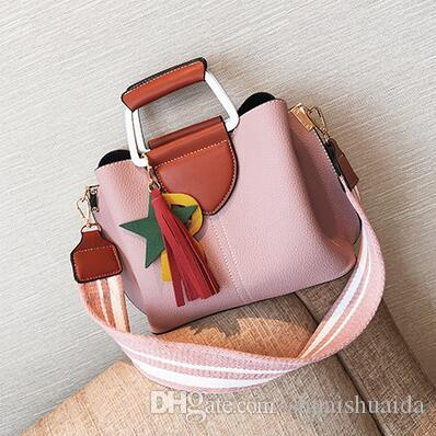 2017. Bump color. Big. Fashion casual bag. Women's Bags. Tassels. Handbag. PU. Soft. Small.Handbags.Cross Body.Shoulder Bags.Totes.