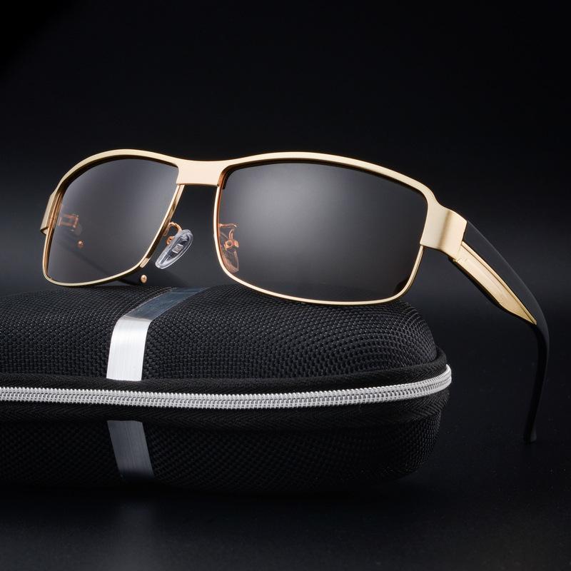 12efaa59d7 Wholesale- Men Brand Designer Polarized Gold Sunglasses Women Goggle ...