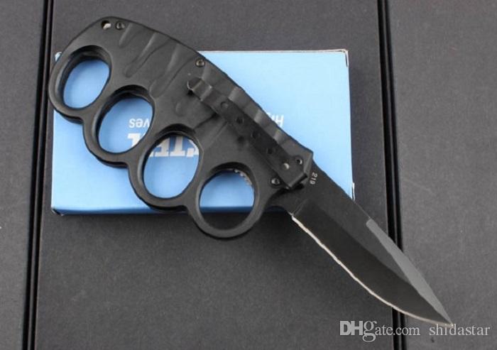 Холодной стали кулака тряпкой карманный складной нож 7CR17Mov алюминиевая ручка тактический кемпинг охота выживания карманный EDC инструмент Xmas коллекция