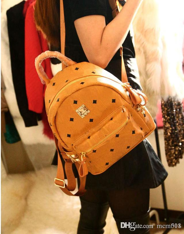 564662bdba1d 2017 New Arrival Fashion School Bags Hot Punk Style Women Backpack Rivet  Crown Student Backpack PVC Leather Lady Bags Size For 35 30 15cm Tactical  Backpack ...