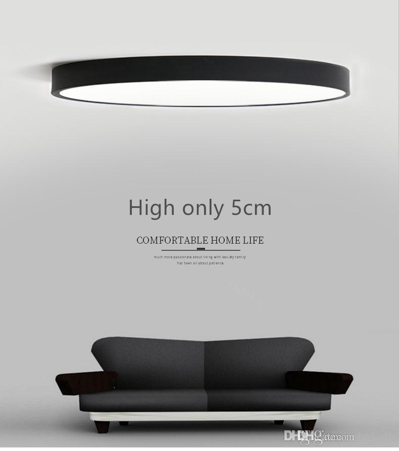 2017 Rc Dimmable Ultrathin 5cm Led Ceiling Lamp Living Room Modern Simple Bedroom Dining Lights Plafondlamp From Sklight
