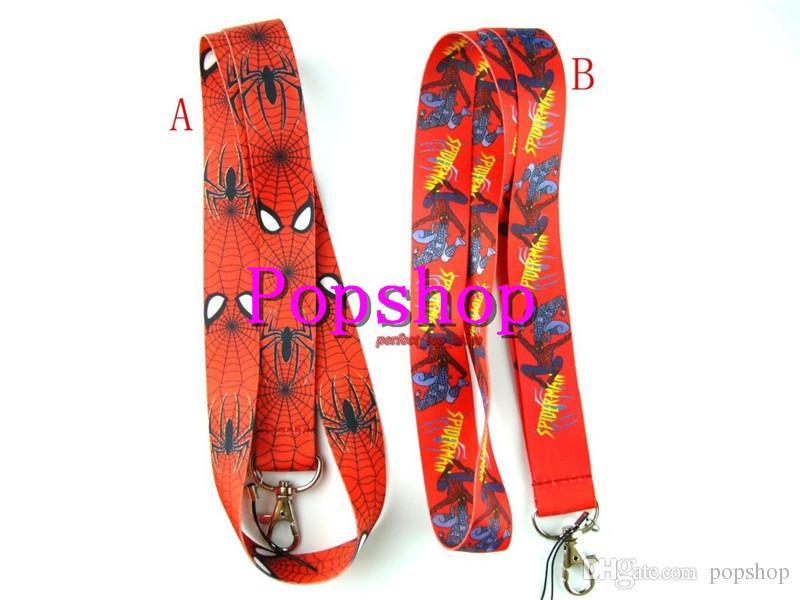 Hot!Avengers Hero Spider-man Red Lanyard Neck Strap Lanyard ID Holder Keys Mobile Phone Popular Lanyard Gift