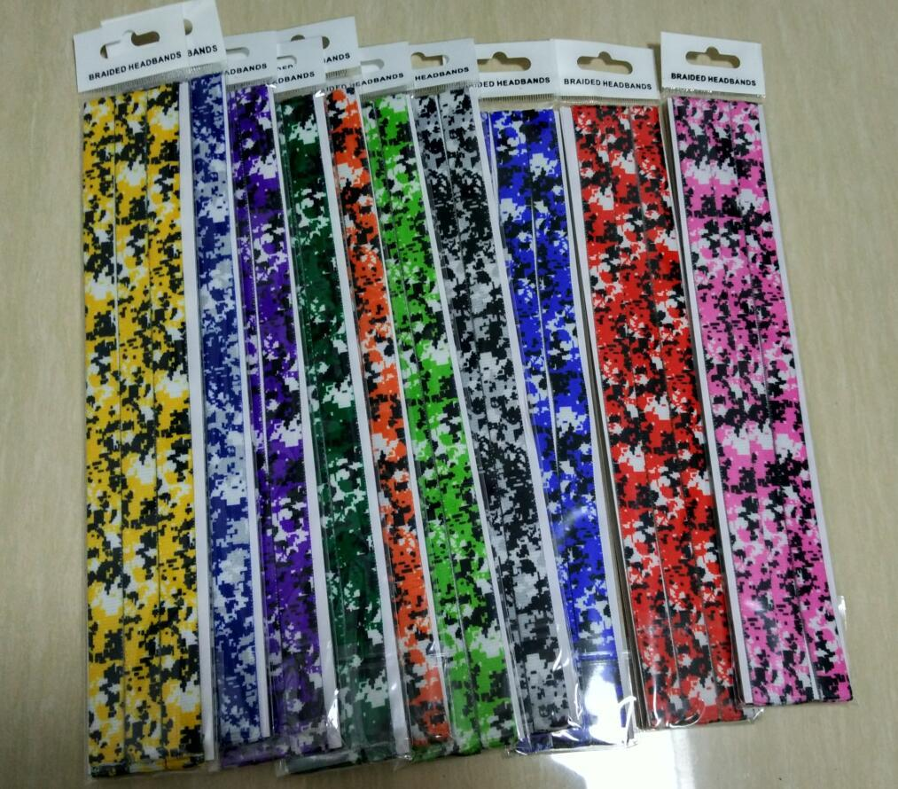 2016 new arrival wholesale digital camo brand digital camo headband hot selling sport headband, digital camo headband