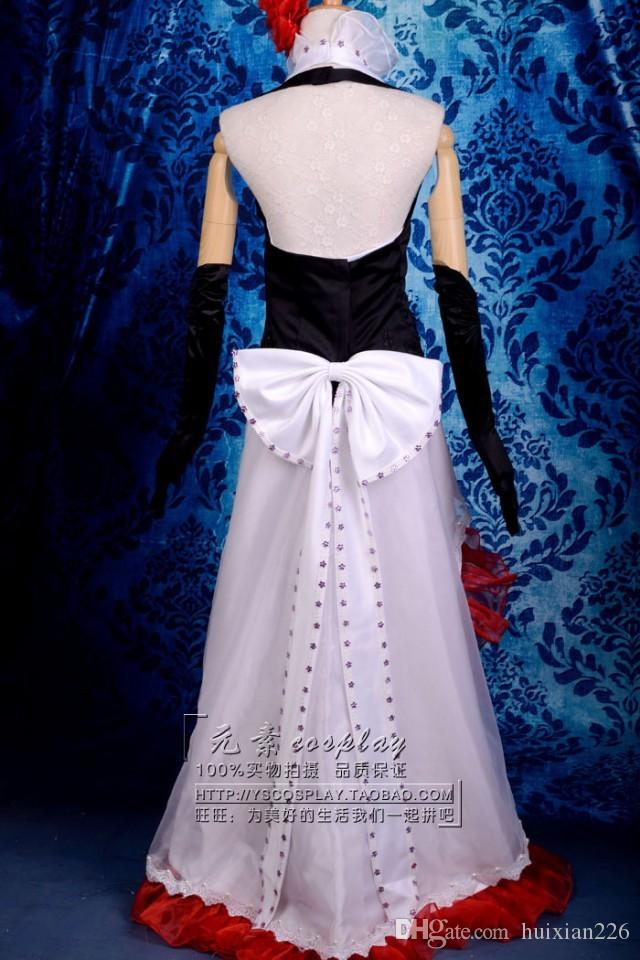 Envío gratis Anime Vocaloid cosplay vestido MEIKO Loro Rita traje de mucama traje de Halloween para las mujeres para fiesta / navidad
