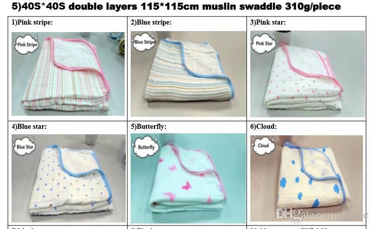 Аден Анаис 2layers двойное лицо детские одеяла уютный ребенок пеленать Детские постельные принадлежности cobertor infantil хлопок животных детские одеяла 47 * 47 дюймов бесплатные окна