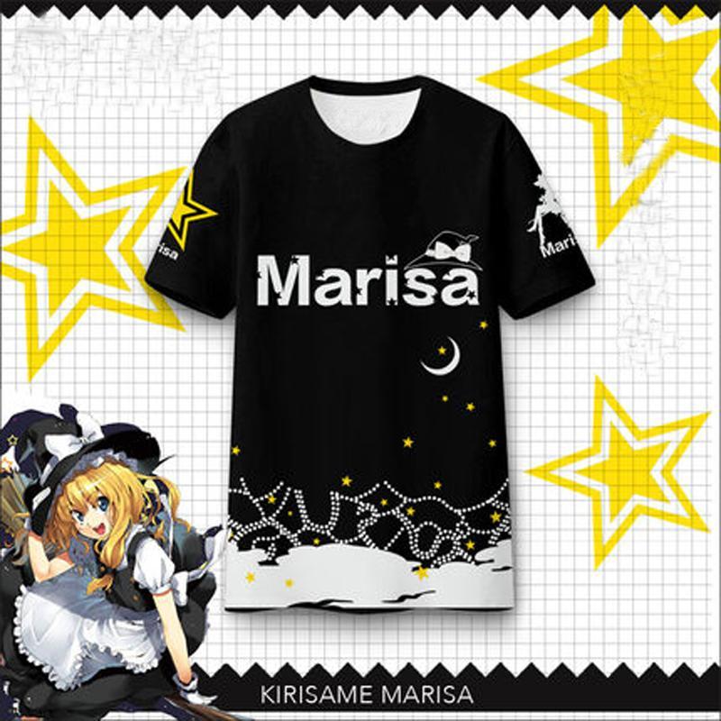 Compre Anime East Project Chuva De Nevoeiro Marisa Verão Mulheres Bonitas T  Shirt Da Bruxa Manga Curta Modal T Shirt De Animação Em Torno De De Twfcs f2ed85d3380